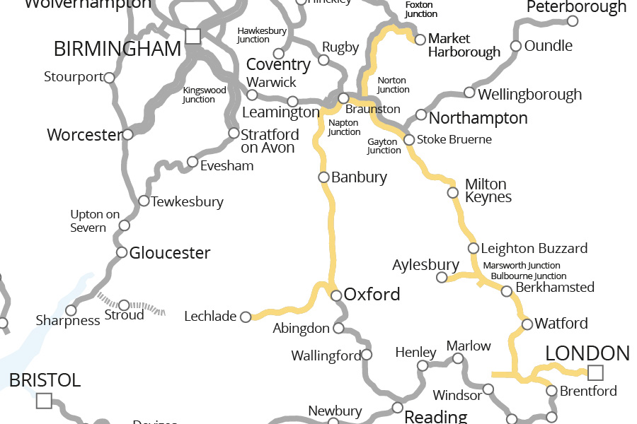 Oxford & Grand Union Canals, and Upper Thames Canal Route